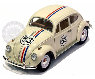 Miniatura Volks Fusca 1967 Herbie Branco 1/18