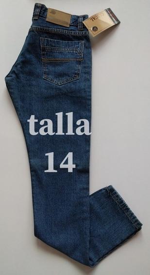 Pantalón Jeans Casual Para Caballeros Talla 14