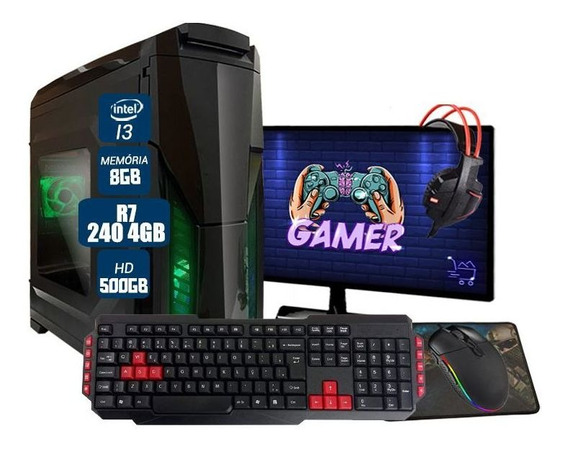 Pc Gamer Completo Barato Aires Intel Rx 460 8gb Hd 1tb Wi-fi