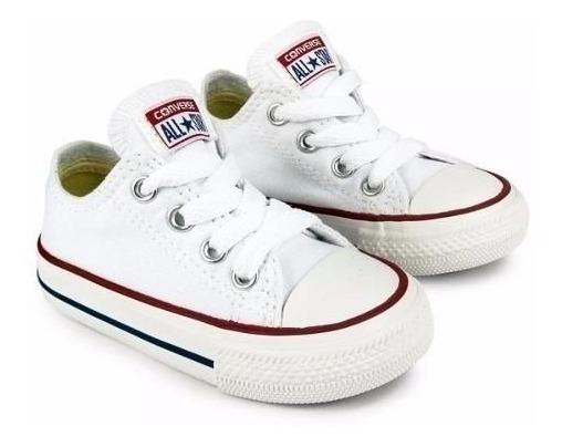 Tenis Blancos Converse All Star 100% Originales Para Bebes
