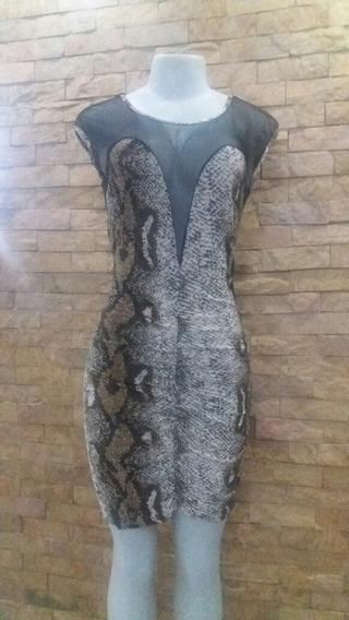 Vestido Animal Print Sexy Transparente Talla S Como Nuevo