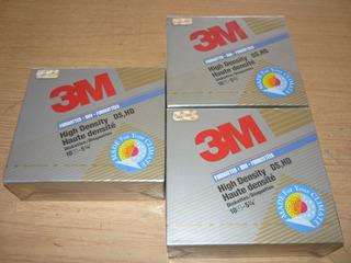 Diskettes 5.25 - 3m Ds Hd - Caja Cerrada 10u.