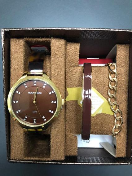 Kit Relógio Feminino Mondaine 53614lpmvdf1 C/pulseira