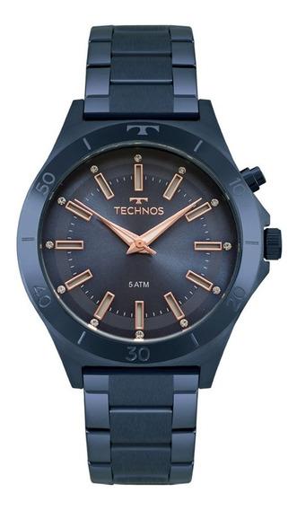 Relogio Technos Original Feminino Trend Azul Y121e3ac/4a