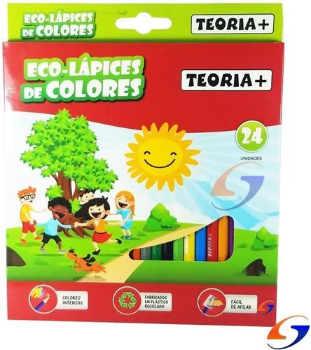 Imagen 1 de 5 de Lapices Colores Teoria Ecologicos X24 Serviciopapelero
