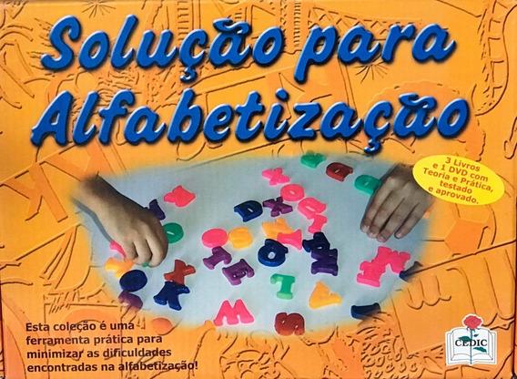 Coleção Solução Para Alfabetização - 3 Livros + Dvd - Cedic