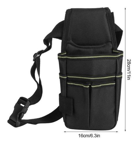 bolsa de cintur/ón de herramientas de bolsillo de cintura de nylon Bolsa de almacenamiento de herramientas de hardware 14 en 1 destornillador multifuncional Soporte de kit de utilidad para hombres//mu
