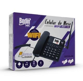 Celular De Mesa 5 Bandas 3g Bdf-12 Wifi (promoção)