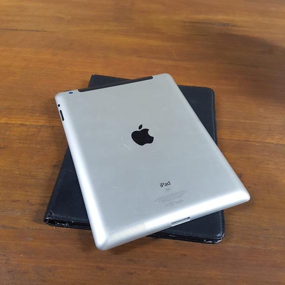 iPad 16gb Wi-fi Branco Semi Novo Com Acessórios