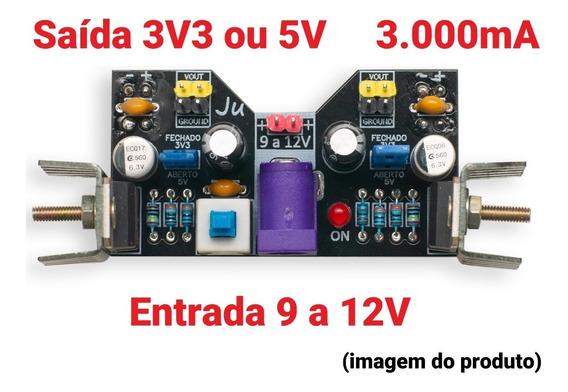 Kit 2 Módulo Alimentação 3v3 5v 12v 3000a Protoboard Arduino