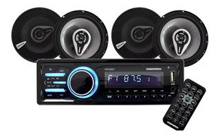 Kit Autoestereo Desmontable Bluetooth+4bocinas 6.5
