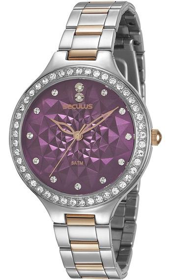Relógio Feminino Seculus Bicolor 48085lpsvgs2