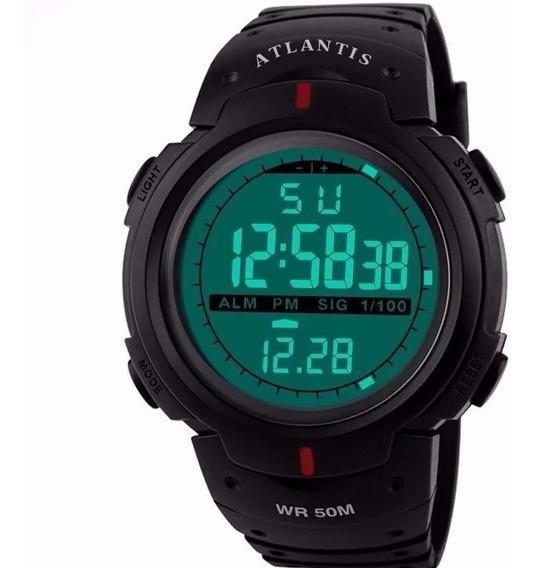 Relógio Masculino Digital Esporte Resistente A Água Militar
