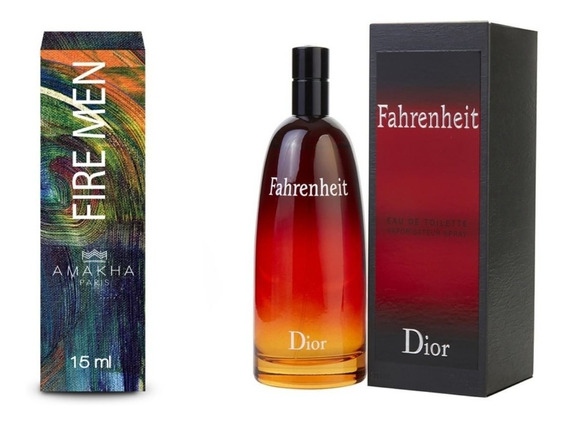 Perfume Amakha Paris Fire Men..fahrenheit Dior Amadeirado/fl