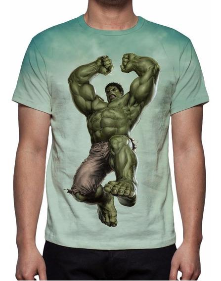 Camisa, Camiseta Os Vingadores Hulk Mod 02 - Estampa Total