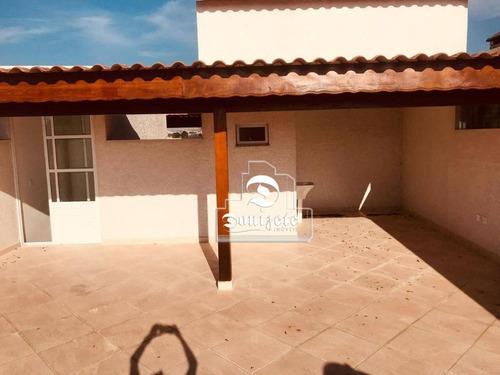 Cobertura Com 2 Dormitórios À Venda, 132 M² Por R$ 449.000,00 - Jardim Paraíso - Santo André/sp - Co11462
