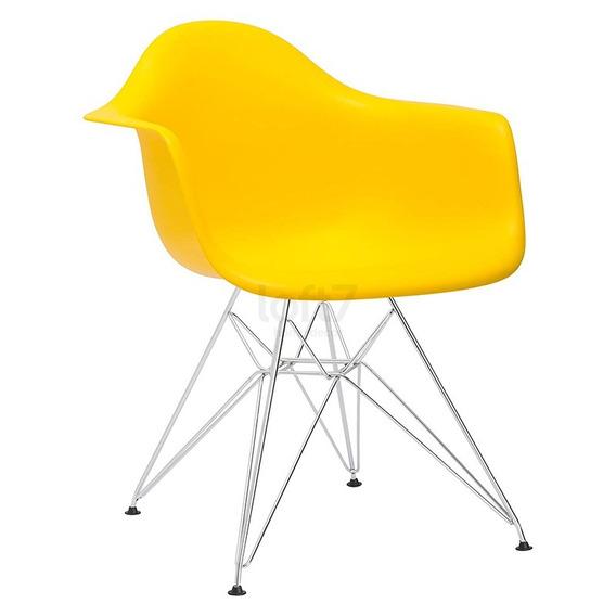 Cadeira Poltrona Eames Eiffel Dar Com Braços Cozinha Cores