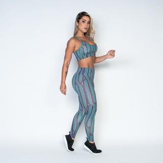 Conjunto Feminino Moda Fitness Para Academia Top + Legging