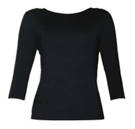 Blusa 3/4 Camiseta Academia Tecido Modelador Compressão Pp