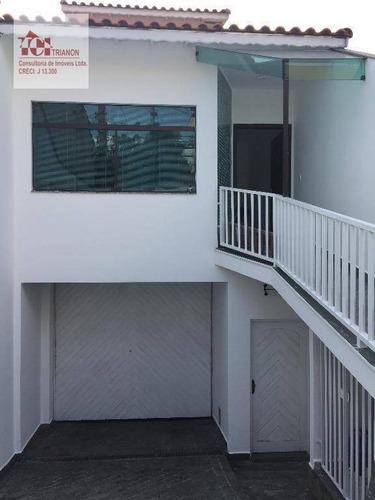 Sobrado Com 3 Dormitórios À Venda, 320 M² Por R$ 880.000,00 - Parque Das Nações - Santo André/sp - So0197