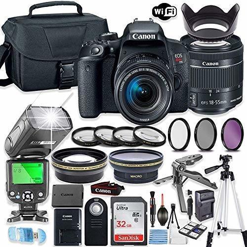 Canon Eo Rebel T7i Lente Camara Reflex Digital Ef