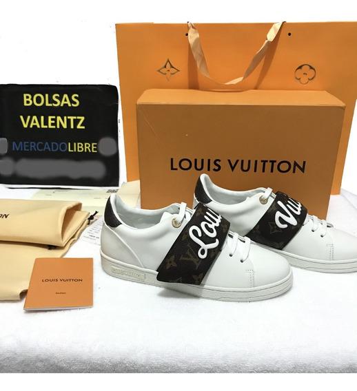 Tenis Louis Vuitton Ftontrow Letras Plasticas Caja Lv Factur