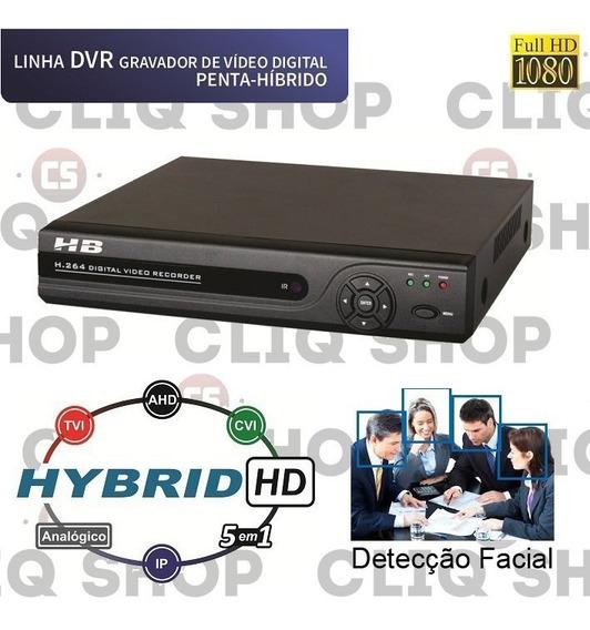 Dvr Hbtech 6308 Full 1080p 4 Mega Com Detecção Facial 6 Em 1