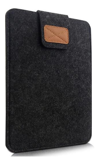 Capa Luva Protetora De Feltro Cinza Para Notebooks De 15 Pol