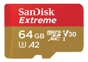 Cartão Micro Sd Sdxc Sandisk Extreme 64gb Gopro Hero 3 4 5 6