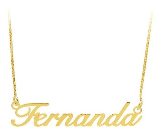 Gargantilha Com Nome Em Ouro 18k - Ov/7116
