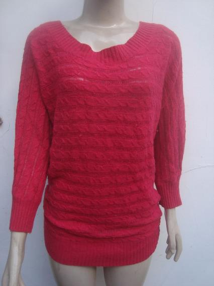 Malha De Lã Em Trico Com Tranças Tam M