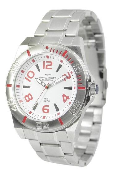 Relógio Masculino Backer Analógico 6200153m - Prata