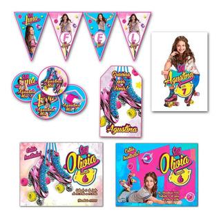 Kit Impreso Soy Luna Invitaciones, Stickers, Cartel Banderín
