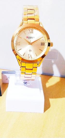 Relógio Curren Feminino 9007 Luxo Com Caixa Para Presentear