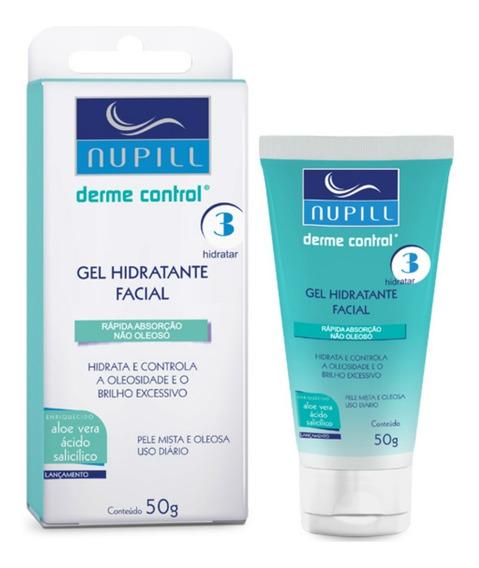 Gel Hidratante Facial Anti-acne Nupill Derme Control 50g