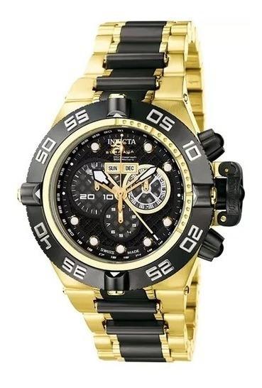 Relógio Masculino Ouro E Preto Invicta 6536 Subaqua Original