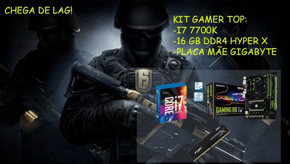 Kit Gamer I7 7700k, Placa Mãe, Memoria 16gb Ddr4