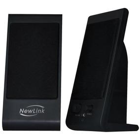Caixa De Som Slim Pc Sp203 Usb 4w Newlink P2 Controle Volume