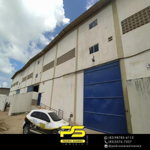 Imagem 1 de 13 de Galpão Para Alugar, 1.200 M² Por R$ 8.500/mês - Loteamento Parque Esperanca - Cabedelo/pb - Ga0042