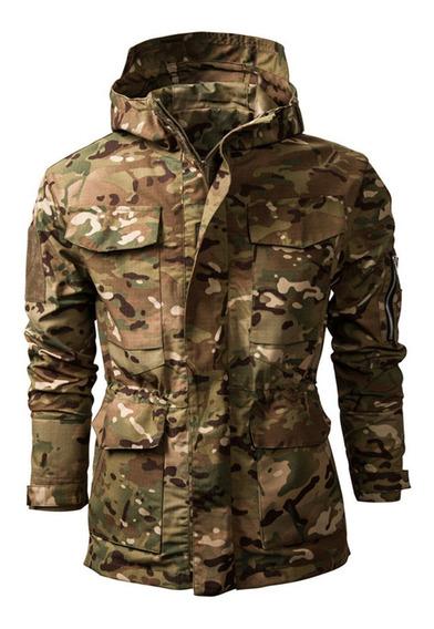 Chaqueta Para Hombre Abrigo Rompevientos Militar