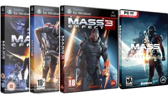Saga Mass Effect 1,2,3,4 - Deluxe Edition Pc Dvd Frete 8 R$