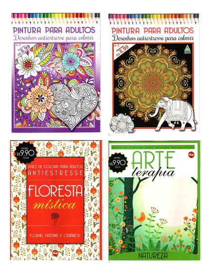 4 Livros De Colorir Adulto Terapia Antiestresse Lote 1 - 3