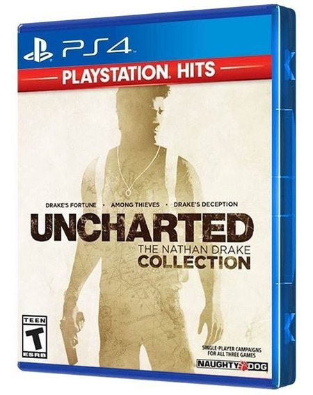 Uncharted: The Nathan Drake - Collection Hits - Ps4 - ( Mídia Física, Nova, Original E Lacrada )