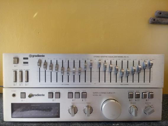 Amplificador Gradiente 166 + Equalizador Gradiente Es-10