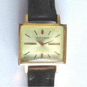 Relógio Movado Swiss Feminino Coroa No Fundo, Raro Folhado