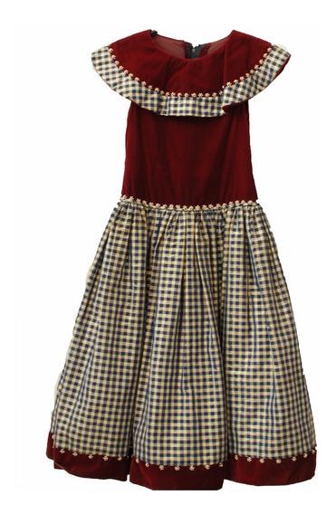 Roupas Para Estúdio:vestido Vinho Com Detalhes Xadrez