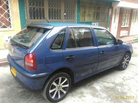 Volkswagen Gol 1.8 2001 Azul 5 Puertas Rines De Lujo