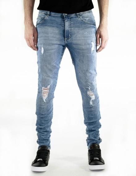 Pantalon Jean Chupin Elastizado Vanderholl Original