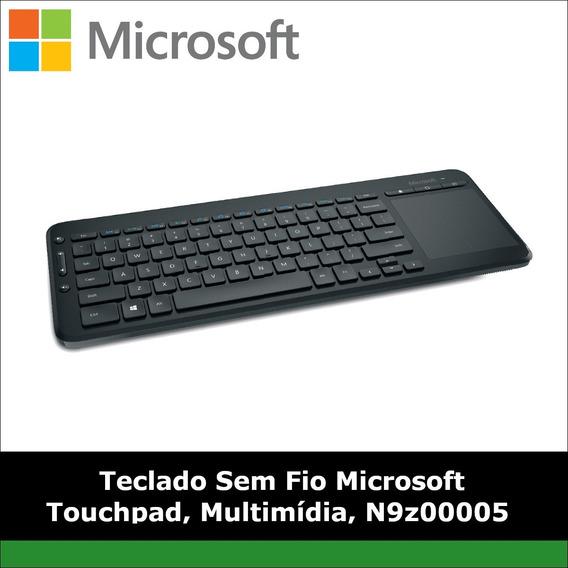 Teclado Sem Fio Microsoft Touchpad, Multimídia, N9z00005