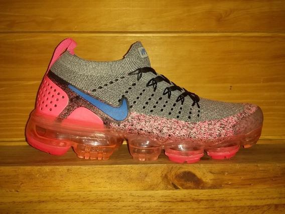 Nike Vapormax Para Dama Color Gris Y Fucsia